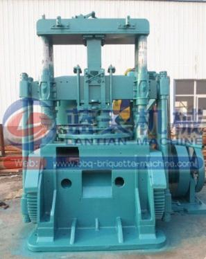 Coke briquette making machine