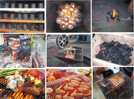 biomass barbecue charcoal briquette machine